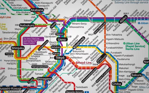 mapa de jrpass en tokio