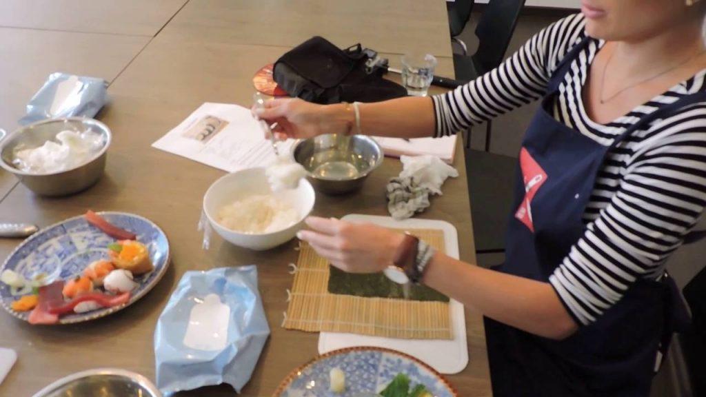 aprender a hacer sushi en tokio